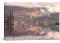 Morning reflections of Loch Ness, Canvas Print