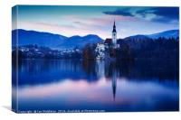Lake Bled and the Island church, Canvas Print
