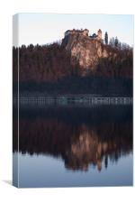 View across Lake Bled, Canvas Print