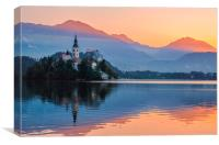 Two colors of Lake Bled, Canvas Print