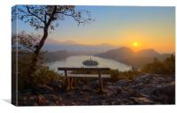 Sunrise over lake Bled, Canvas Print