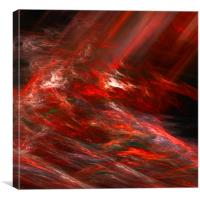 Red abstraction, Canvas Print