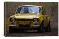 Ford Rally Escort, Canvas Print