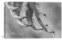 Red Arrows Black and White, Canvas Print