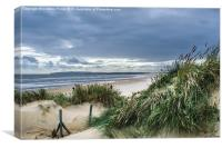 Camber Sands Beach Dunes, Canvas Print