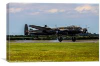 Lancaster Bomber City of Lincoln, Canvas Print