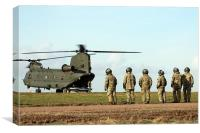 Waiting to board the Chinook, Canvas Print