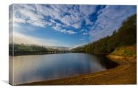Derwent with early morning mist, Canvas Print