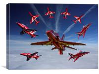 Red Arrows, Canvas Print