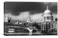 St Pauls Black and White, Canvas Print