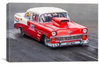 Chevrolet Bel Air Drag Racer, Canvas Print