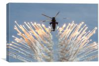 Commando Sea King Firing Flares, Canvas Print