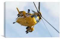 RAF Sea King Helicopter SAR, Canvas Print