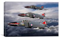 Navy Phantom formation, Canvas Print