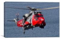 Royal Navy Sea King SAR, Canvas Print