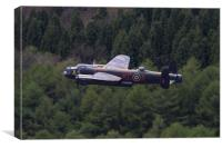 Lancaster Bomber over Derwent, Canvas Print