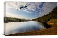 Lancaster bombers over Ladybower, Canvas Print