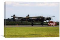 Lancasters return to base, Canvas Print
