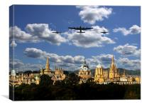 BBMF over Oxford City, Canvas Print