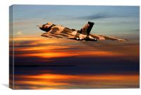 Vulcan bomber sunset finale , Canvas Print