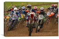 Motocross bikes, Canvas Print