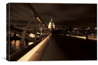 St Pauls cathedral at night, Canvas Print