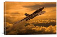 Vulcan XH558 sunset climb, Canvas Print