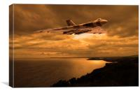 Vulcan Bomber at sunset, Canvas Print