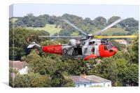 Royal Navy SeaKing at Dawlish 2015, Canvas Print