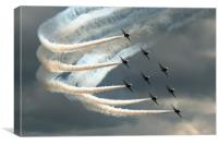 Red Arrows 2, Canvas Print