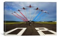 Red Arrows Vulcan XH558, Canvas Print