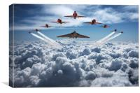 Vulcan and Red Arrows farewell flight, Canvas Print