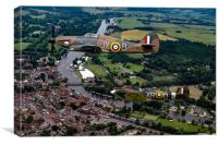 Spitfire and Hurricane over Henley, Canvas Print