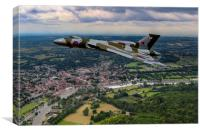 Vulcan XH558 over Henley, Canvas Print