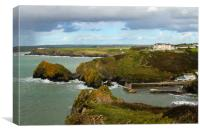 Mullion Cove from the clifftop, Canvas Print