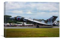 Vulcan landing at RIAT, Canvas Print