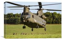 Chinook picking up Troops, Canvas Print