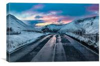Bwlch Pass Winter, Canvas Print