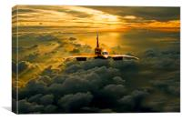 Concorde Supersonic Sunset, Canvas Print
