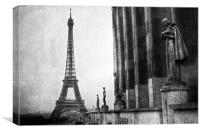 Black and White Paris, Canvas Print