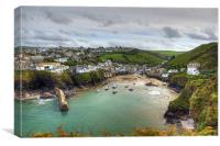 Port Isaac Harbour, Canvas Print