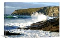 Trebarwith Seaspray, Canvas Print