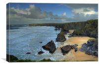 Bedruthan Steps, Canvas Print