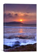Sunset over Stepper Point, Canvas Print