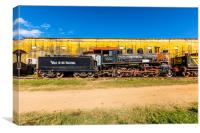 Old trains of Cuba, Canvas Print