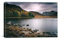 Clouds over Blea Tarn with Langdale Pikes beyond., Canvas Print