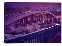 Wear Bridge, Canvas Print