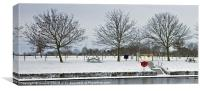 Winter waterfront, Canvas Print
