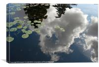 Reflected clouds, Canvas Print