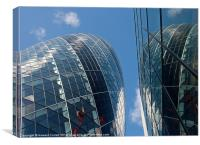 Gherkin reflection, Canvas Print